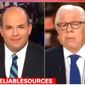 "Carl Bernstein of Watergate fame, right, told CNN's ""Reliable Sources"" on July 16, 2017, that America was in the midst of a ""cold civil war."" (CNN screenshot)"