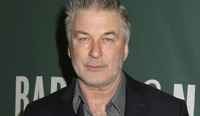 """In this April 4, 2017 file photo, actor and author Alec Baldwin appears at Barnes & Noble Union Square to sign copies of his new book, """"Nevertheless: A Memoir"""", in New York. Baldwin has signed on for a role in NBC's upcoming live television adaptation of the drama """"A Few Good Men."""" The network said Monday, July 17, that Baldwin will play Col. Nathan Jessep, a role performed by Jack Nicholson in the movie. (Photo by Greg Allen/Invision/AP, File) **FILE**"""