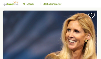 Screen capture of a GoFundMe fundraising page designed to mock conservative columnist Ann Coulter's July 15 Twitter tirade about being relocated on board a recent Delta flight.