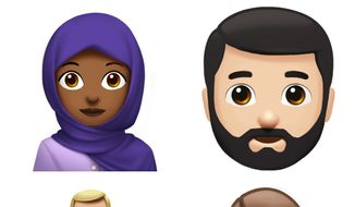 Apple unveiled a dozen new emoji characters in celebration of World Emoji Day on Monday, including a breastfeeding mother, a bearded man and a woman in a hijab. (Apple)