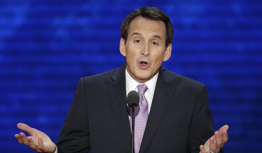 In this Aug. 29, 2012, file photo, former Minnesota Gov. Tim Pawlenty addresses the Republican National Convention in Tampa, Fla. (AP Photo/J. Scott Applewhite, File)