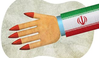 Iran Non-Treaty Illustration by Greg Groesch/The Washington Times
