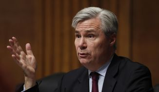 In this Wednesday, May 3, 2017, file photo, Sen. Sheldon Whitehouse, D-R.I., is pictured on Capitol Hill in Washington. (AP Photo/Carolyn Kaster, File)