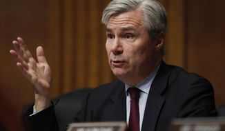 "FILE - In this Wednesday, May 3, 2017 file photo, Sen. Sheldon Whitehouse, D-R.I. is pictured on Capitol Hill in Washington. Whitehouse, a Democratic member of the U.S. Senate committee that conducted confirmation hearings for Environmental Protection Agency Administrator Scott Pruitt, said in a letter Tuesday, July 18, 2017, that Oklahoma's former attorney general presented ""inconsistent and contradictory statements"" to the panel. (AP Photo/Carolyn Kaster, File)"