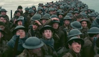 """A review of director Christopher Nolan's history-based """"Dunkirk"""" by USA Today warns viewers that they may be troubled by the lack of women and minorities in lead roles. (YouTube, Warner Bros. Pictures)"""