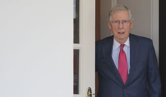 Senate Majority Leader Mitch McConnell, Kentucky Republican, wants to take up the House-passed health care bill Tuesday, setting the stage for amendments and final passage before Congress leaves for its August recess. (Associated Press/File)