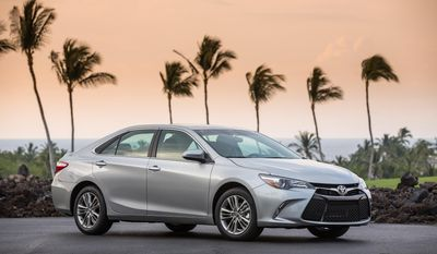This photo provided by Toyota shows the 2017 Camry midsize sedan which is scheduled to be replaced with an all-new model in early August 2017. Edmunds suggests considering the 2017 model as it will likely be heavily discounted compared to the newly redesigned version which has additional features and more fuel-efficient engines. (David Dewhurst Photography/Courtesy of Toyota Motor Sales, U.S.A., Inc. via AP)
