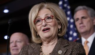 In this March 10, 2017, file photo, House Budget Committee Chair Rep. Diane Black, R-Tenn., speaks on Capitol Hill in Washington. (AP Photo/J. Scott Applewhite, File)
