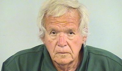 This undated photo provided by the Lake County Sheriff Department shows ex-U.S. House Speaker Dennis Hastert. The Lake County Sheriffs' Office said Wednesday, July 19, 2017, that Hastert was fitted with a electronic monitoring device. The device was attached Monday shortly after Hastert was released from a federal prison in Minnesota, as he nears the end of a 15-month sentence in a hush money case. (Lake County Sheriff Department via AP)