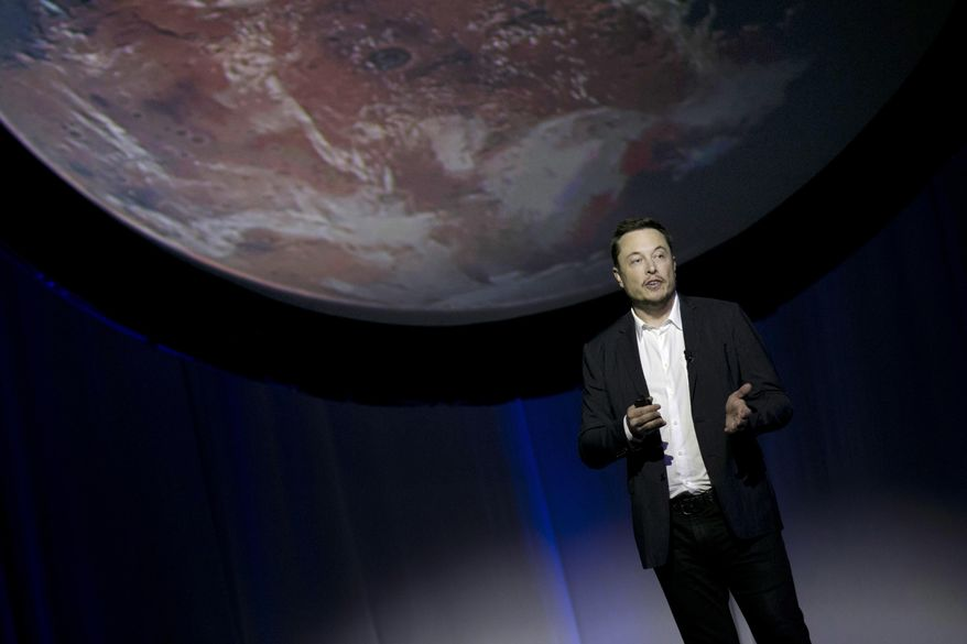 In this Sept. 27, 2016, file photo, SpaceX founder Elon Musk speaks during the 67th International Astronautical Congress in Guadalajara, Mexico. (AP Photo/Refugio Ruiz, File)