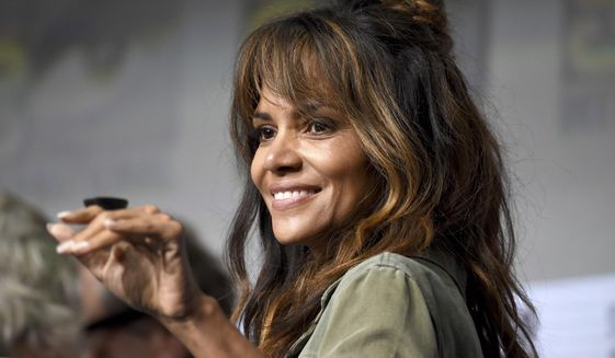 Halle Berry greets the audience at the 20th Century Fox panel on day 1 of Comic-Con International on Thursday, July 20, 2017, in San Diego. (Photo by Richard Shotwell/Invision/AP)