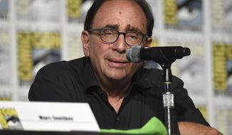 """Goosebumps"" creator R.L. Stine speaks on a panel on day one of Comic-Con International on Thursday, July 20, 2017, in San Diego. (Photo by Richard Shotwell/Invision/AP)"