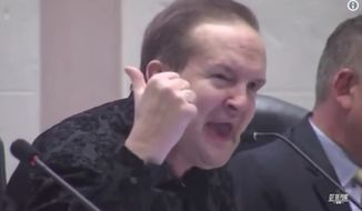 "Paul Congemi's racist tirade has gone viral after he told a group of activists to ""go back to Africa"" during a mayoral forum Tuesday, July 18, 2017, in St. Petersburg, Florida. (YouTube/@GetThePoint)"