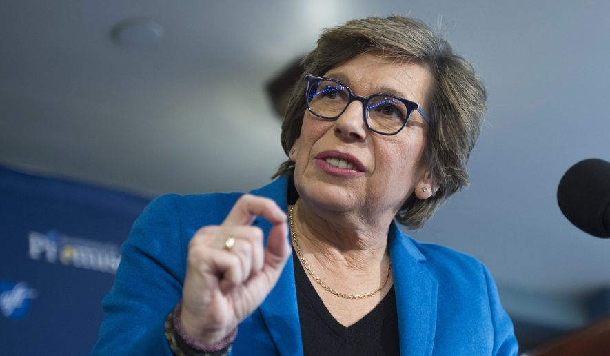 In this Jan. 9, 2017, file photo, American Federation of Teachers President Randi Weingarten speaks about education at the National Press Club in Washington. (AP Photo/Cliff Owen, File) ** FILE **