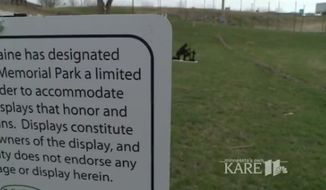 The city of Belle Plaine, Minnesota, ended months of debate Monday by eliminating a free speech zone at Veterans Memorial Park, blocking a proposed satanic monument and forcing other religious displays to be removed. (KARE 11)