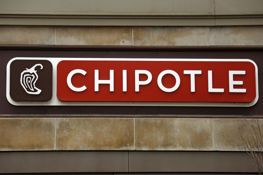 FILE - This Thursday, Jan. 12, 2017, file photo shows a sign on a Chipotle restaurant. A person who reported eating at a Chipotle in northern Virginia has tested positive for norovirus. On Thursday, July 20, 2017, health officials said that's not yet enough to determine the cause of the roughly 60 reported illnesses it has identified. (AP Photo/Gene J. Puskar, File)
