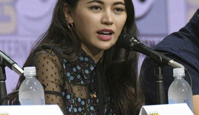 "Jessica Henwick speaks at the ""Marvel's The Defenders"" panel on day two of Comic-Con International on Friday, July 21, 2017, in San Diego, Calif. (Photo by Al Powers/Invision/AP)"