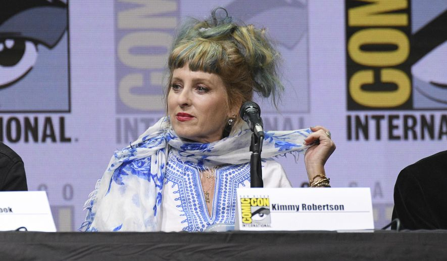 "Kimmy Robertson attends the ""Twin Peaks"" panel on day two of Comic-Con International on Friday, July 21, 2017, in San Diego. (Photo by Al Powers/Invision/AP)"