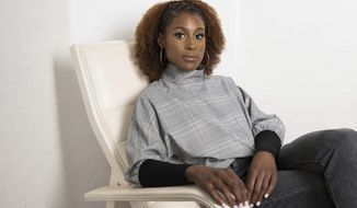 """Issa Rae poses for a portrait on Thursday, July 20, 2017, in New York to promote her HBO series, """"Insecure."""" (Photo by Amy Sussman/Invision/AP)"""