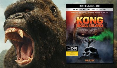 "The Eighth Wonder of the World stars in ""Kong: Skull Island,"" now available on 4K Ultra HD from Warner Bros. Home Entertainment."