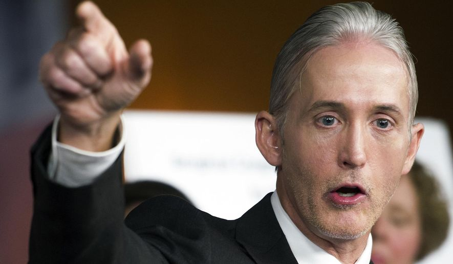 """""""We got nothing,"""" Rep. Trey Gowdy, South Carolina Republican and an Intelligence panel member, told the Examiner on Tuesday. """"The witnesses have not been produced and the documents have not been produced."""" (AP Photo/Cliff Owen, File)"""