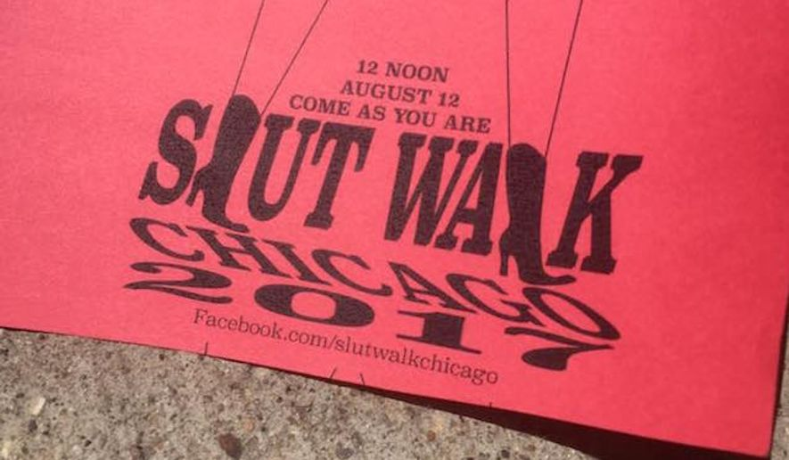 "Following the Chicago Dyke March's controversial decision to eject pro-Israel participants from last month's rally, the SlutWalk march has announced it is also banning ""Zionist displays"" from appearing at its August 12, 2017 protest. (Facebook/@SlutWalk Chicago)"