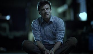 "This image released by Netflix shows Jason Bateman in a scene from the series, ""Ozark."" (Jackson Davis/Netflix via AP)"