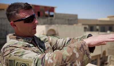 """""""I think what we saw in Mosul will translate through these other havens that ISIS still has control of,"""" said Col. Pat Work, head of the U.S. Army's 82nd Airborne Task Force Falcon group based in northern Iraq."""