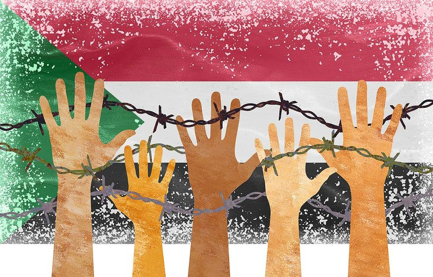 Sudan Corruption Illustration by Greg Groesch/The Washington Times