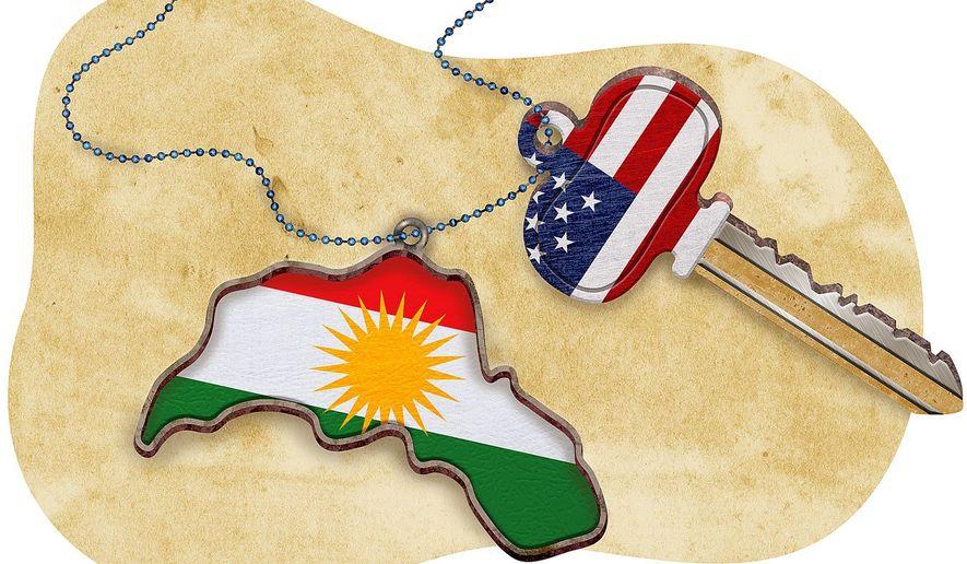 Kurdistan Partnership Illustration by Greg Groesch/The Washington Times