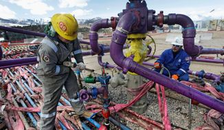 """Officials said the 2015 fracking guidelines were """"unnecessarily duplicative of state and some tribal regulations."""" (Associated Press)"""