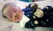 This is an undated photo of sick baby Charlie Gard provided by his family, taken at Great Ormond Street Hospital in London. The parents of a critically ill infant Monday July 24, 2017, withdrew their court fight seeking permission to take the child to the United States for medical treatment. (Family of Charlie Gard via AP)