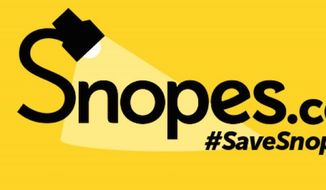 The fact-checking website Snopes.com has created a GoFundMe page. Its owner says $500,000 are needed to help fight an ongoing legal battle. (GoFundMe, Save Snopes)