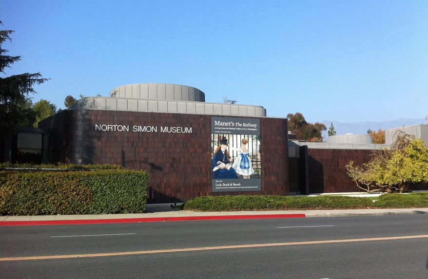FILE - In this Jan. 21, 2015, file photo, the Norton Simon Museum is seen in Pasadena, Calif. (AP Photo/John Antczak, File)