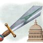 Obama Plan to Usurp the Senate's Legislative Power Illustration by Greg Groesch/The Washington Times