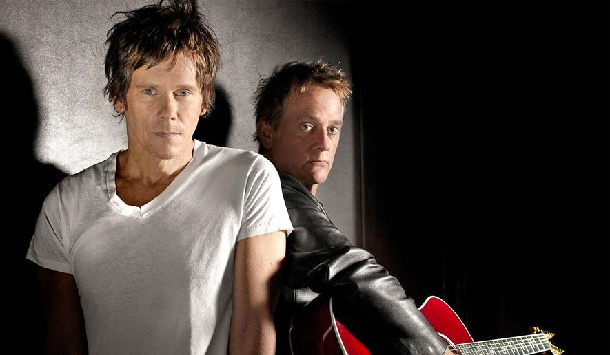 Kevin (left) and Michael Bacon of the Bacon Brothers band will headline a Save the Mummers Parade benefit concert in Philadelphia on Dec. 5. The brothers have been performing for 14 years.