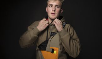 """FILE - In this Jan. 22, 2017, file photo, Jake Paul poses for a portrait at the Music Lodge during the Sundance Film Festival oin Park City, Utah. Paul announced on July 22, 2017, that he was leaving the Disney Channel series """"Bizaardvark."""" (Photo by Taylor Jewell/Invision/AP, File)"""