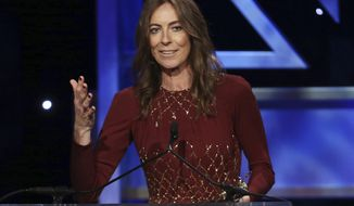 "FILE - In this Nov. 9, 2013 file photo, director Kathryn Bigelow accepts the ""John Schlesinger Britannia Award for Excellence in Directing"" during the 2013 BAFTA Los Angeles Britannia Awards in Beverly Hills, Calif. Bigelow directed the upcoming film, ""Detroit."" (Photo by Matt Sayles/Invision/AP, File)"