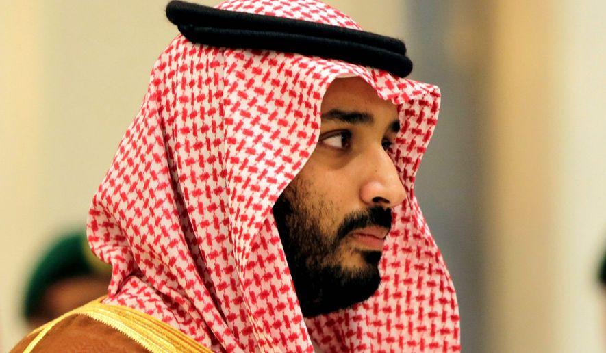 Saudi Crown Prince Mohammed bin Salman (Associated Press) **FILE**