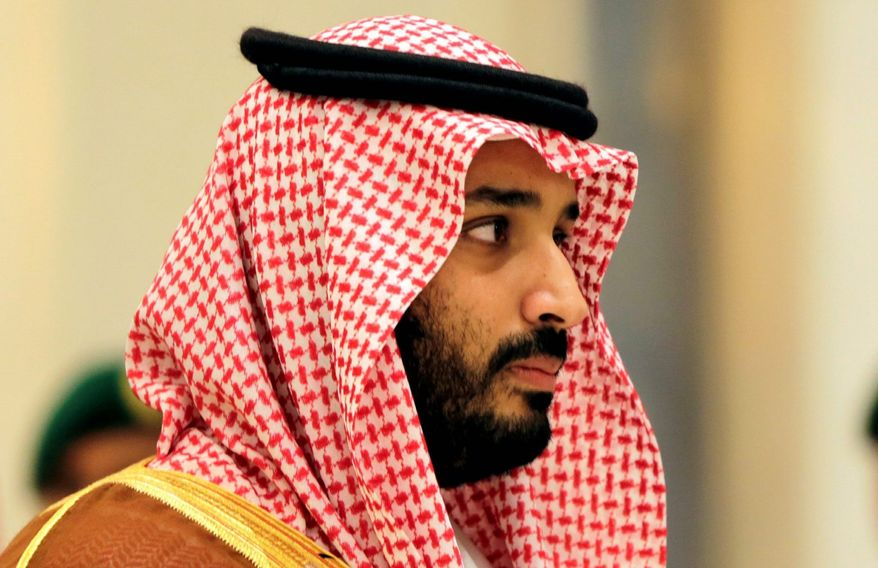 Saudi Crown Prince Mohammed bin Salman (Associated Press) **FILE**