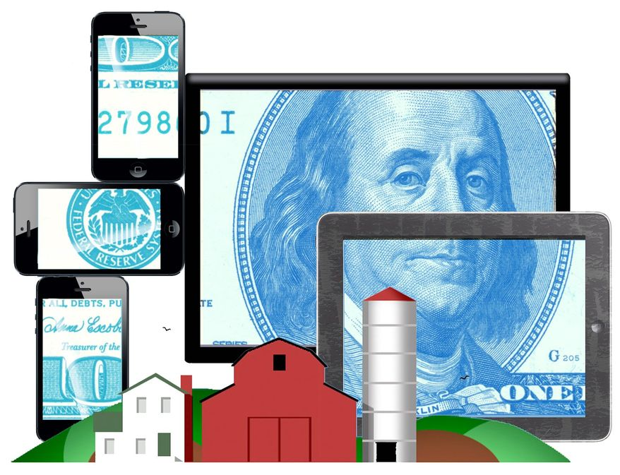 Illustration on the economic benefits of bringing greater broadband access to rural America by Alexander Hunter/The Washington Times