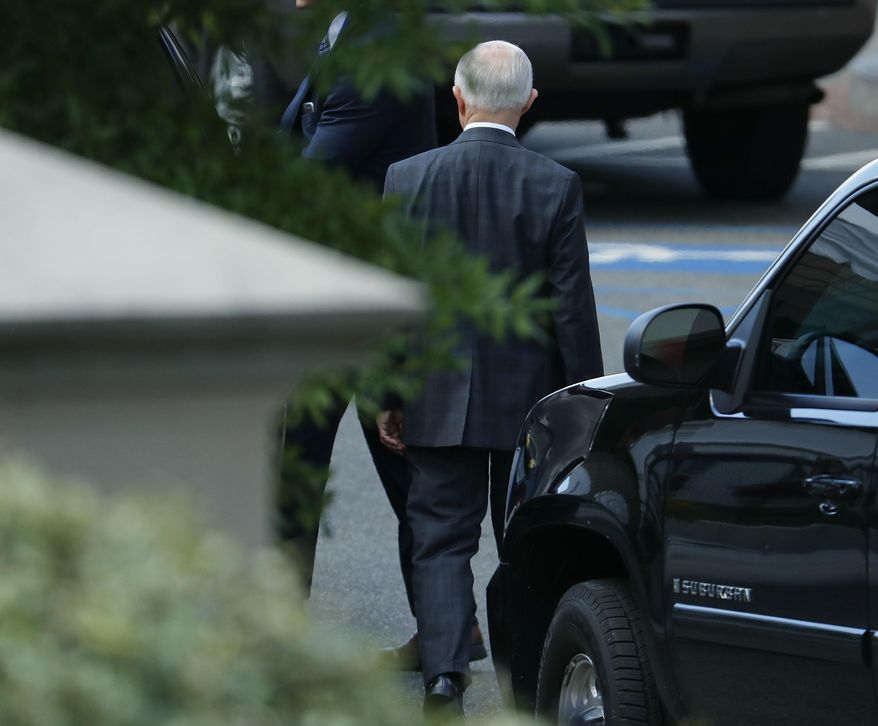 Attorney General Jeff Sessions leaves the White House in Washington, Tuesday, July, 26, 2017. (AP Photo/Pablo Martinez Monsivais)