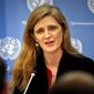 United States U.N. Ambassador Samantha Power speaks during her final press conference, Friday, Jan. 13, 2017 at U.N. headquarters. (AP Photo/Bebeto Matthews) (Associated Press)