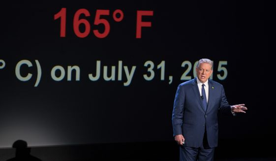 """Al Gore's """"An Inconvenient Sequel: Truth to Power"""" didn't come anywhere near the success of """"An Inconvenient Truth"""" massive media attention, mostly fawning reviews and promotion from eco-conscious stars such as Paul McCartney, Bono and Pharrell Williams. (Associated Press/File)"""