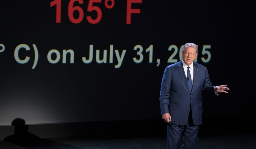 "Al Gore's ""An Inconvenient Sequel: Truth to Power"" is unlikely to come anywhere near the success of ""An Inconvenient Truth,"" which earned nearly $50 million at the box office. (Associated Press)"