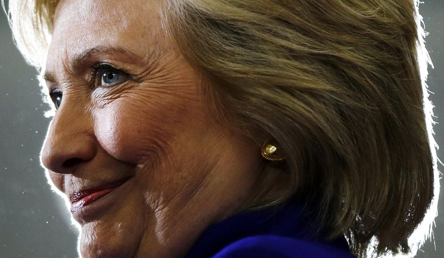 "In this Sept. 21, 2016, file photo, Democratic presidential candidate Hillary Clinton pauses as she speak during a campaign stop at the Frontline Outreach Center in Orlando, Fla. Clinton is calling her new book ""What Happened"" and promising to let her ""guard down"" as she remembers her defeat last year to Donald Trump. (AP Photo/Matt Rourke, File)"