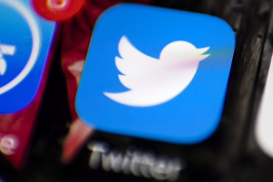 This Wednesday, April 26, 2017, photo shows the Twitter app on a smartphone in Philadelphia. Twitter Inc. reports earnings, Thursday, July 27, 2017. (AP Photo/Matt Rourke)