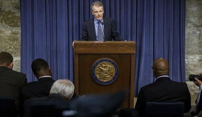 Illinois Speaker of the House Michael Madigan, D-Chicago, speaks at a news conference on the first day of a special session on education funding at the state Capitol, Wednesday, July 26, 2017, in Springfield, Ill. (Justin Fowler/The State Journal-Register via AP)