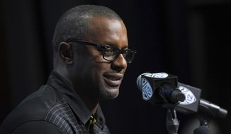 Oregon head coach Willie Taggart speaks at the Pac-12 NCAA college football media day, Thursday, July 27, 2017, in the Hollywood section of Los Angeles. (AP Photo/Mark J. Terrill)