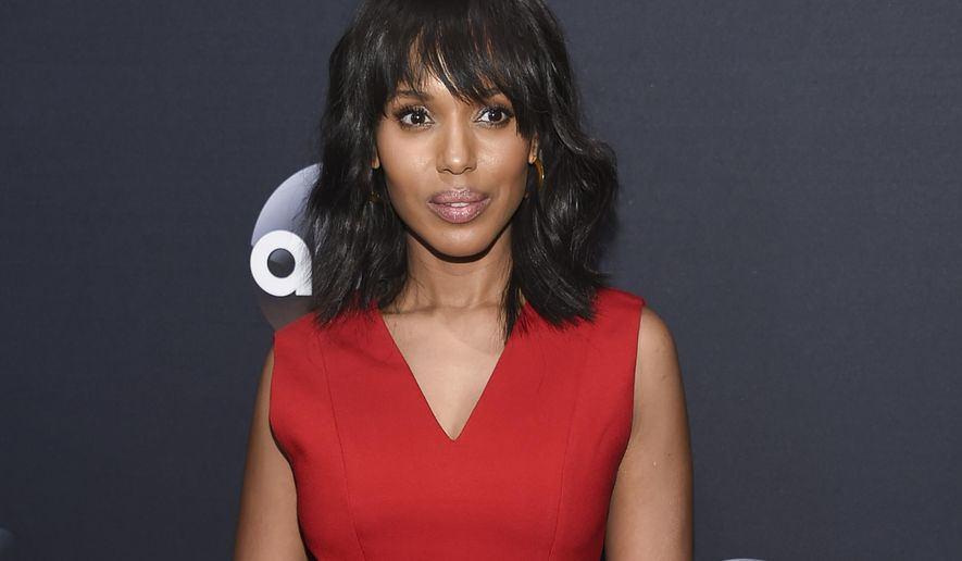 FILE - In this May 16, 2017 file photo, actress Kerry Washington attends the ABC Network 2017 Upfront in New York. Washington is being recognized by a national education organization for integrating LGBT activism into her film and television career. GLSEN announced Thursday, July 27, 2017, that it will honor Washington with the Inspiration Award at the 2017 GLSEN Respect Awards on Oct. 20 in Beverly Hills, Calif. (Photo by Evan Agostini/Invision/AP, FIle)
